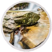Peavine Falls  Round Beach Towel by Parker Cunningham