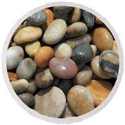 pebble beach Chesil UK  Round Beach Towel