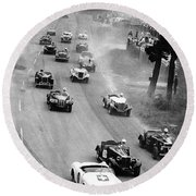 Pebble Beach California Sports Car Races Auto Road Race April 11 1954 Round Beach Towel