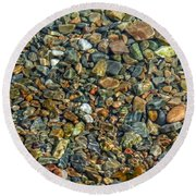 Pebbled Shore At Ullapool Round Beach Towel