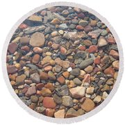 Pebbles Under Water Round Beach Towel