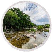 Pedernales River - Downstream Round Beach Towel