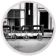 Pedicab Nyc Round Beach Towel