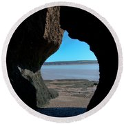 Peeking Through Round Beach Towel