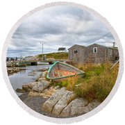Peggy's Cove 12 Round Beach Towel