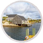 Peggy's Cove 6 Round Beach Towel