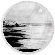 Peggy's Cove Round Beach Towel