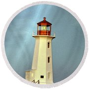 Peggy's Cove Lighthouse 2 Round Beach Towel