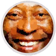 Pele Portrait Round Beach Towel