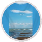 Pelee Round Beach Towel