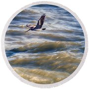 Pelican Briefly Round Beach Towel