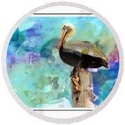 Pelican Colours Round Beach Towel