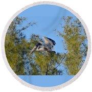 Pelican Landing Round Beach Towel