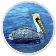 Pelican Round Beach Towel