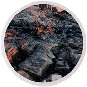 Pemaquid In Early Morning Light Round Beach Towel