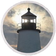 Pemaquid Lighthouse - The Tower  Round Beach Towel