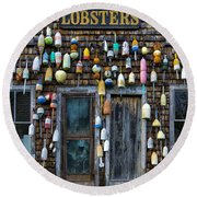 Pemaquid Lobster Shack Round Beach Towel