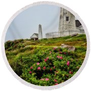 Pemaquid Point Round Beach Towel