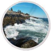 Pemaquid Point Lighthouse 1 Round Beach Towel