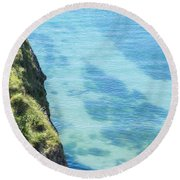 Pembrokeshire Cliffs Round Beach Towel