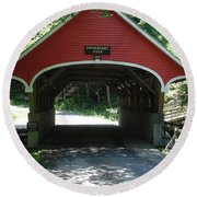 Pemigewasset River Bridge Round Beach Towel