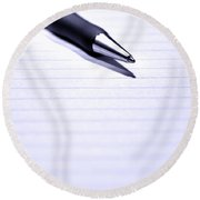 Pen On Paper Round Beach Towel