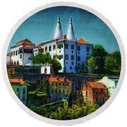 Pena National Palace - Sintra Round Beach Towel