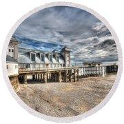 Penarth Pier 5 Round Beach Towel
