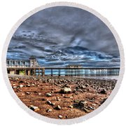Penarth Pier 7 Round Beach Towel