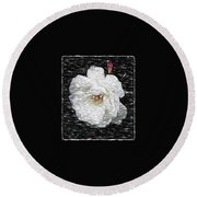 Pencil A Rose Round Beach Towel