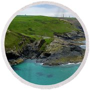 Pendeen Watch To Levant Round Beach Towel