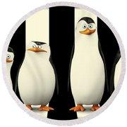Penguins Of Madagascar Round Beach Towel