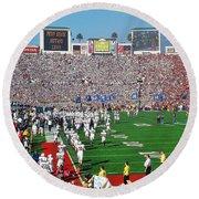 Penn State Rose Bowl Round Beach Towel by Benjamin Yeager