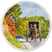Pennsylvania Amish Round Beach Towel