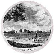 Pennsylvania Farm, 1795 Round Beach Towel