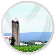 Pennsylvania Farms Round Beach Towel