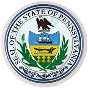 Pennsylvania State Seal Round Beach Towel