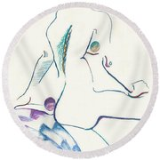 Penny And The Wishing Well Round Beach Towel