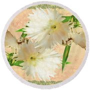 Penny Postcard Cheerful Round Beach Towel