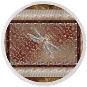 Penny Postcard Sophisticated Round Beach Towel