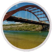 Pennybacker 360 Bridge, Austin, Texas Round Beach Towel