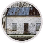 Pennyfield Lockhouse On The C And O Canal In Potomac Maryland Round Beach Towel