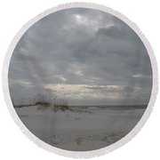 Pensacola Beach After Storm  Round Beach Towel