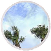 Pensacola Palms Round Beach Towel