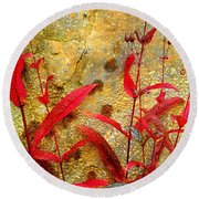 Penstemon Abstract 4 Round Beach Towel
