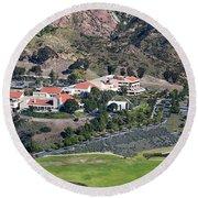Pepperdine University On A Hill Round Beach Towel