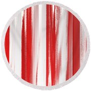 Peppermint Stick Abstract Round Beach Towel