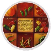 Pepper Facts  Round Beach Towel