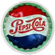 Pepsi Cap Round Beach Towel by David Lee Thompson
