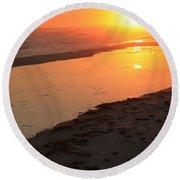 Perdido Key Reflections Round Beach Towel
